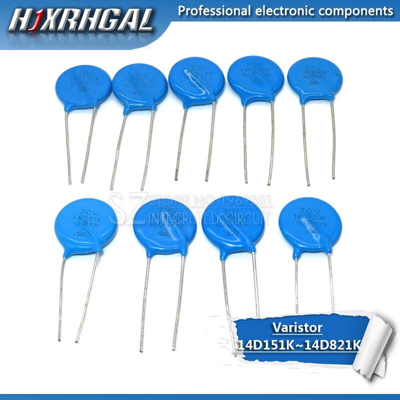 10PCS Varistor 14D151K 14D201K 14D220K 14D221K 14D270K 14D431K 14D470K 14D471K 14D561K 14D621K 14D680K Piezoresistor Hjxrhgal