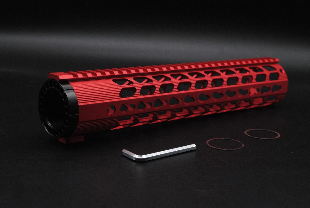 ФОТО Red New Style 12'' inch Length Ultralight Keymod Handguard Fit .308 Rifle AR-10 / DMPS LR-308 Hand Guard Free Shipping