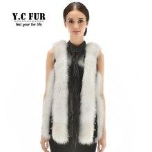 New Style Genuine Leather Waistcoat Natural Fox Fur Vest Patchwork With Genuine Sheepskin Gilet Warm Winter Autumn Fur Vests