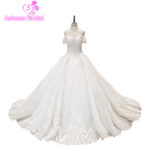AOLANES Tassel Muslim Wedding Dress Ball Gown