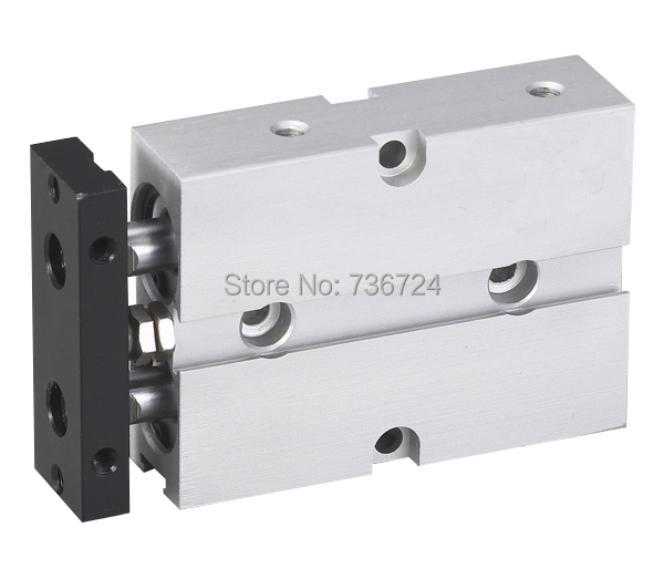 bore 10mm*30mm stroke with magnet double shaft  pneumatic air cylinder mgpm32 30 32mm bore 30mm stroke series three shaft double acting air cylinder with rubber bumper mgpm32 30