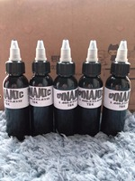 5 Bottle Black Dynamic Tattoo Ink 60ml 100g Permanent Makeup Micropigment For Body Art Tattoo Painting Cosmetics