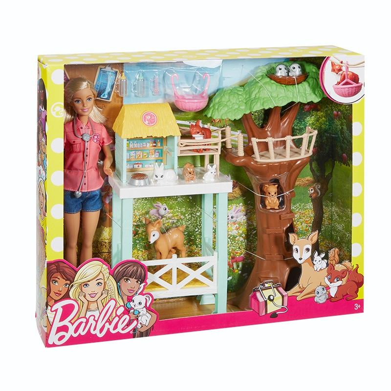 2018 Animal Doll & Playset Mooie RescuerAnimal Huis Speelgoed Building Meisje Baby Meisje Speelgoed Poppenhuis casa de Boneca Barbie-in Poppen van Speelgoed & Hobbies op  Groep 2