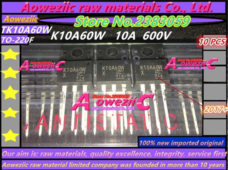 Aoweziic 100% New Imported Original TK10A60W K10A60W  TK18A50D K18A50D  TK39A60W K39A60W TO-220F TK46E08N1 K46E08N1 Transistor