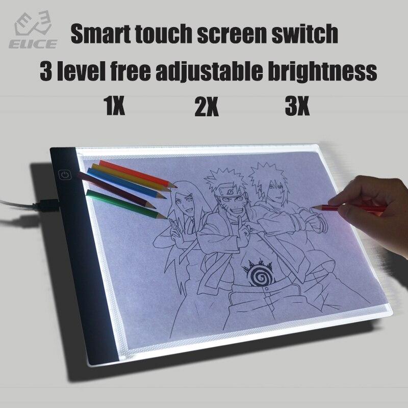 1 Set A4 Größe Nicht Haben Rand Rahmen 2 W Power Verbrauch Led Beleuchtung Grafik Tabletten Für Kunst Designer Mit Dem Besten Service