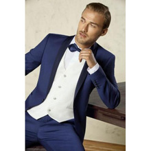 Custom Made Groom Tuxedos Groomsmen Best Man Suit Men Wedding Suits Business Men blazer costume homme Suits jacket vest pant