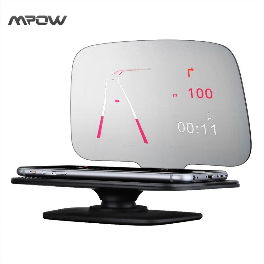 bilder für Mpow Universal 5,5 Auto-Styling GPS Handyhalter Display KM/h MPH Tachometer mit Über Warnung Fahrzeug geschwindigkeit Motordrehzahl