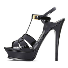 Moraima Snc Sexy Platform High Heel Sandals Woman Peep Toe T-strap Shoe