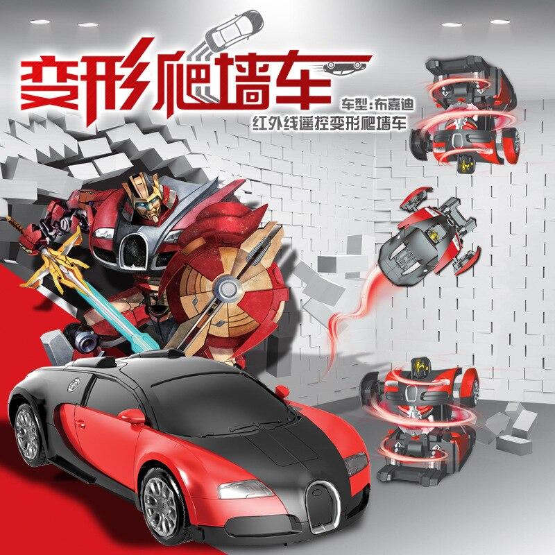 2016 climbing robot remote control car deformation Bugatti hornet wall climbing car vehicle toy