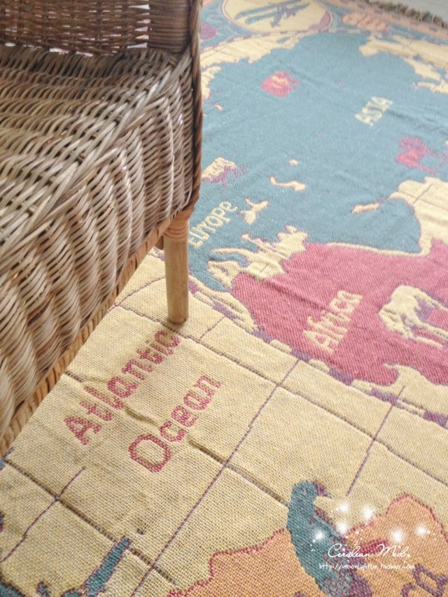 180 130cm Vintage World Map American Cotton Blanket Living