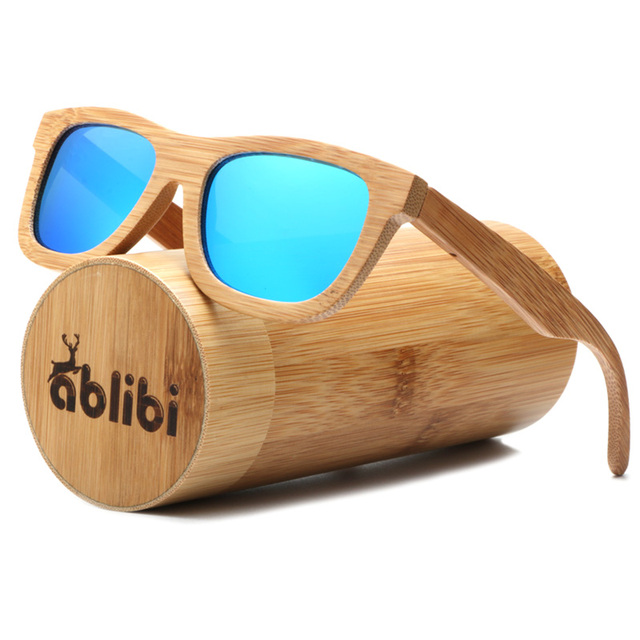 89113ef5fb Womens Full Bamboo Polarized Mirrored Coating Wood Sunglasses Mens Unique  Bamboo Glasses lentes de sol mujer in Bamboo Tube Case