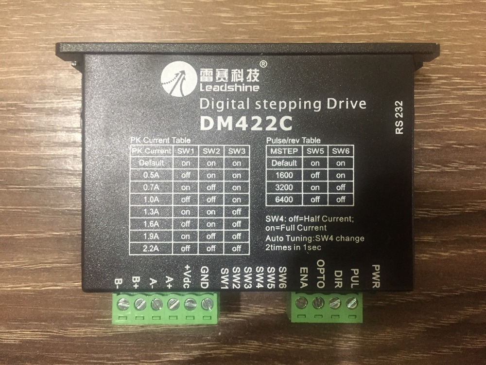 цена на DM422C Two-phase stepper motor driver leadshine Up to 40VDC / 2.2A / 512 microstep