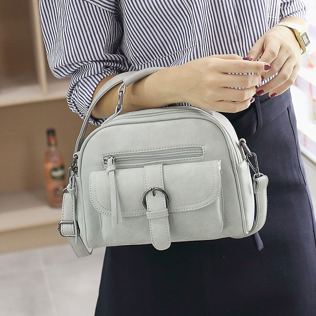 Tinkin New Arrival Women Bag Fashion Shoulder Bag Casual Simple Totes Fresh Cherry Messenger Bag Matte Leather Bag