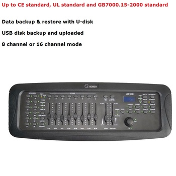 Portable New RHINO U240B DMX Controller Stage Lighting Console 3 Pin Male/Female XLR Perfect For LED Dj Party Stage Lights