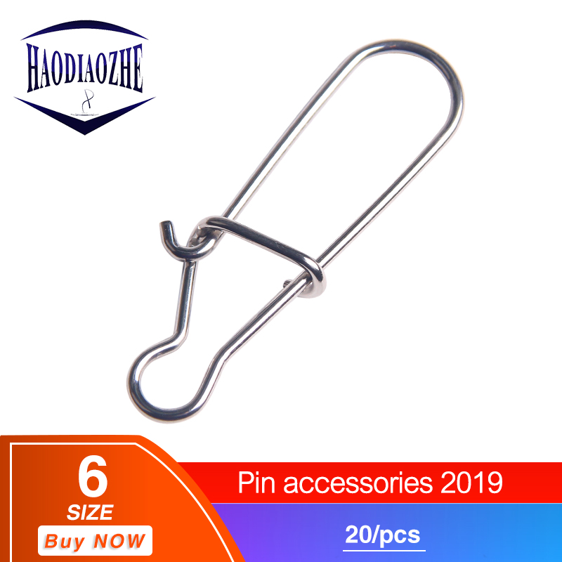 HAODIAOZHE 20Pcs Fishing tool Swivel Safety Snaps Hooks Connector Fishing accessories trout Fishhook Fishing Pesca Tackle YU421HAODIAOZHE 20Pcs Fishing tool Swivel Safety Snaps Hooks Connector Fishing accessories trout Fishhook Fishing Pesca Tackle YU421