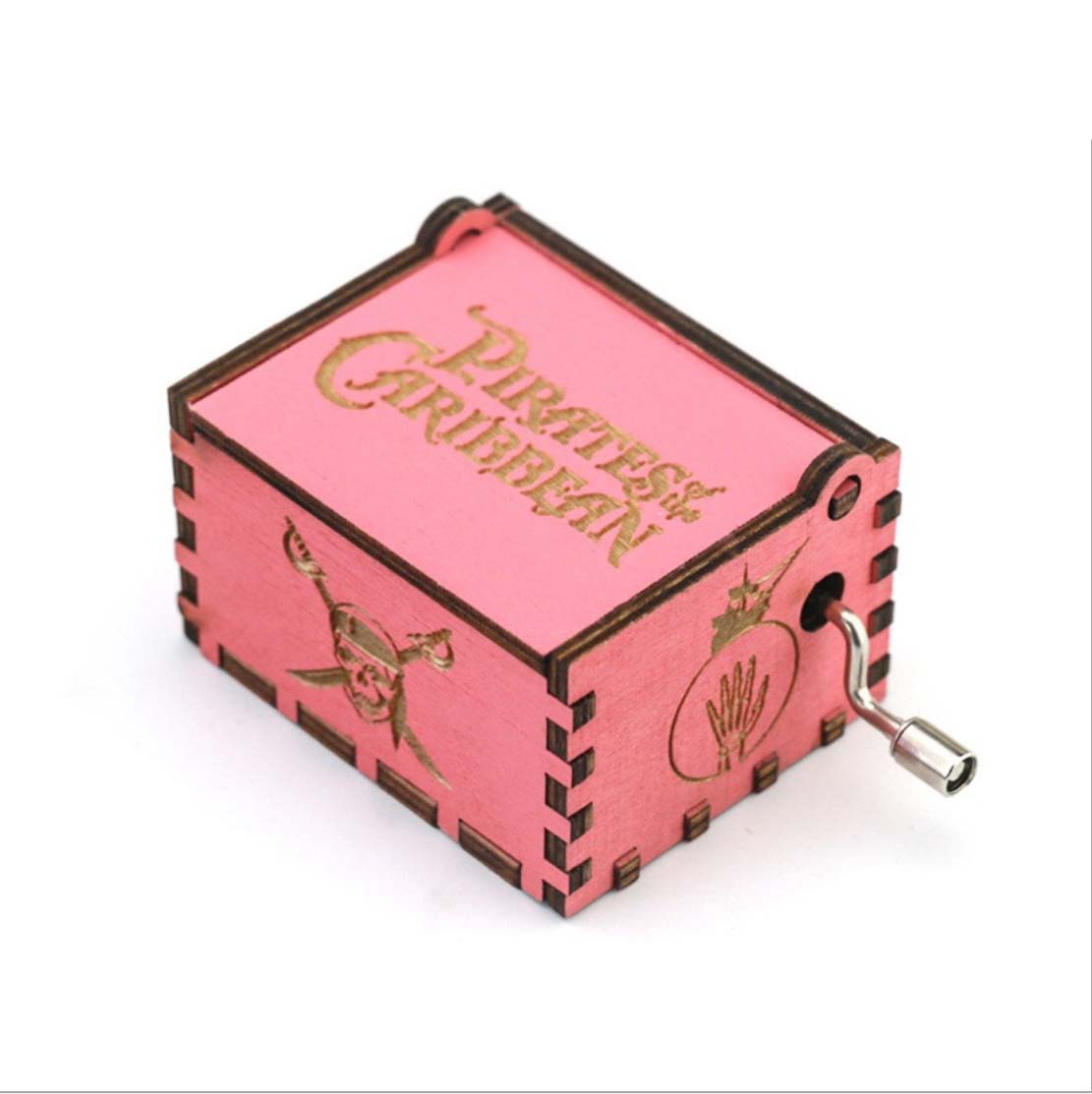 Game of Thrones Wooden Music Box Pirates of the Carib Harri Potter Pink Theme Christmas Gift Wood Anime Music Box Dropshipping in Music Boxes from Home Garden