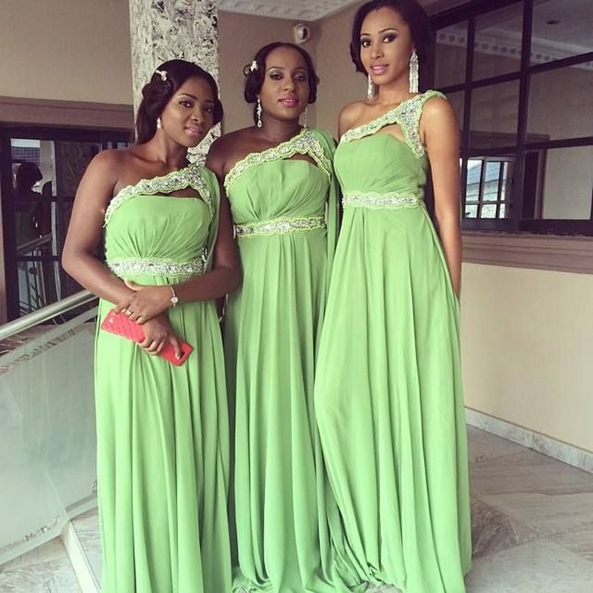 American Bridal Dresses in Purple and Green