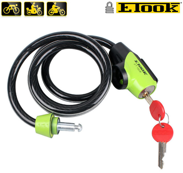 New ETOOK Steel Bicycle Lock Anti-theft Folding Security Bike Chain Lock Cadeado Bicicleta Ciclismo with Fixed Mount Bike Parts