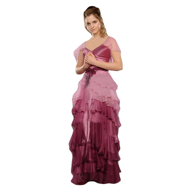 Online Shop Hermione Granger Yule Ball Gown Dress Cosplay Costume ...