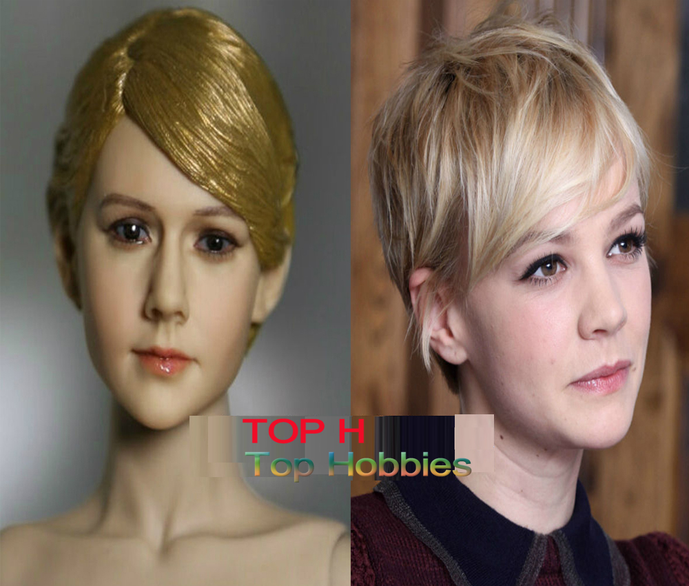 KUMIK Head 1/6 Female Head Sculpt KM13-46 Girl Head Carving Model With Short Hair Fit 12 Action Figure Doll Body Toys kumik head 1 6 head sculpt male head carving model bareheaded fit 12 action figure doll toys free shipping km15 19