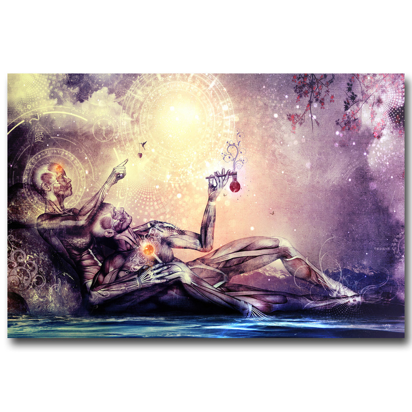 New Psychedelic Salvador Dali Abstract Painting Picture Fabric Poster X-1-24x36