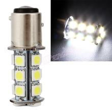 1pc Pure BA15S White/Yellow 1157 5050 SMD 18 LED Car Auto Tail Brake Stop Signal Lights lamp Bulb DC 12V Car Styling #HP