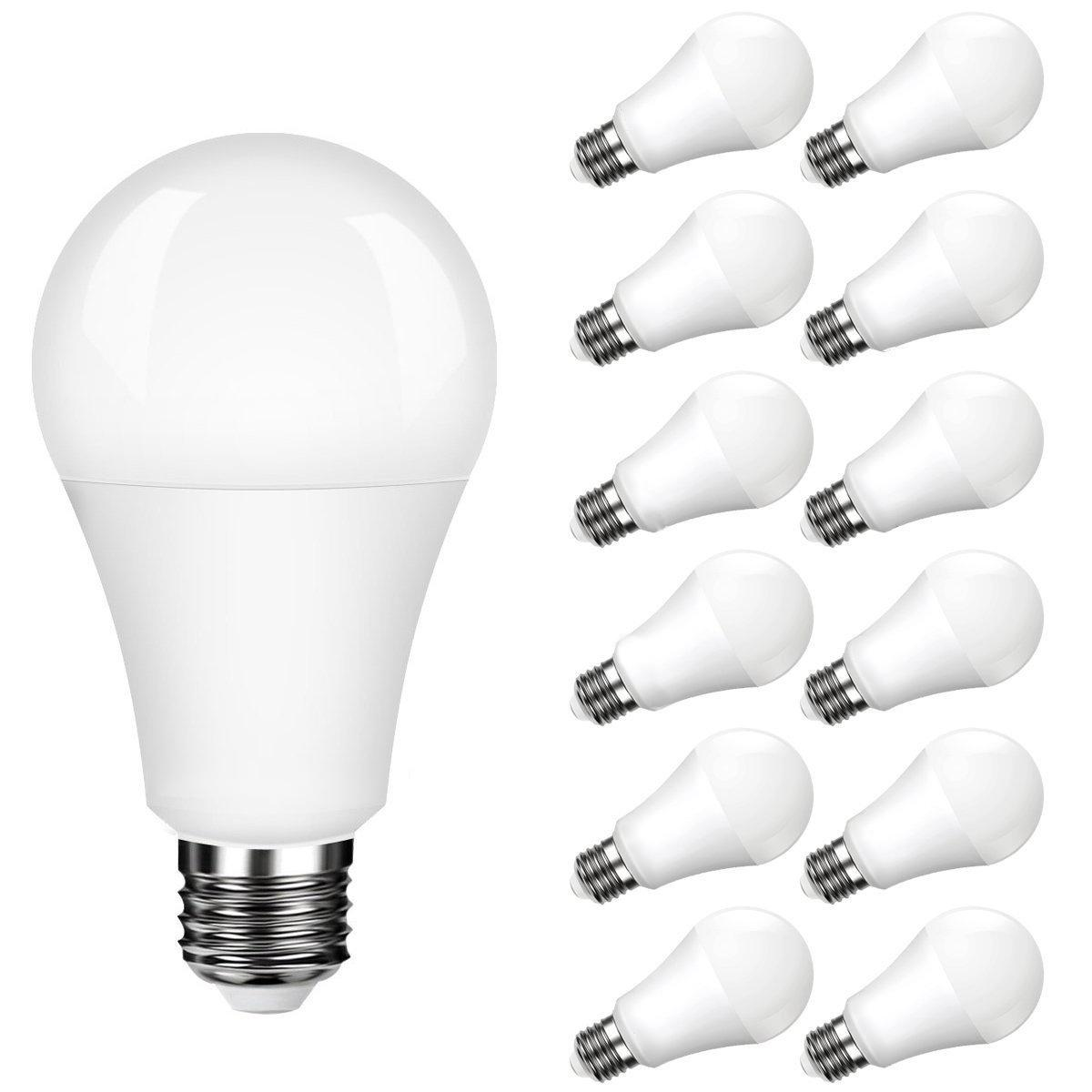LumiParty 12 Pcs E26/27 LED Bulb Light A19 11W Incandescent Energy Saving Bulb for Kitchens Living Rooms Bedrooms or Hallways lumiparty 6pcs led light bulb 7w daylight white 3000k led energy saving light bulbs