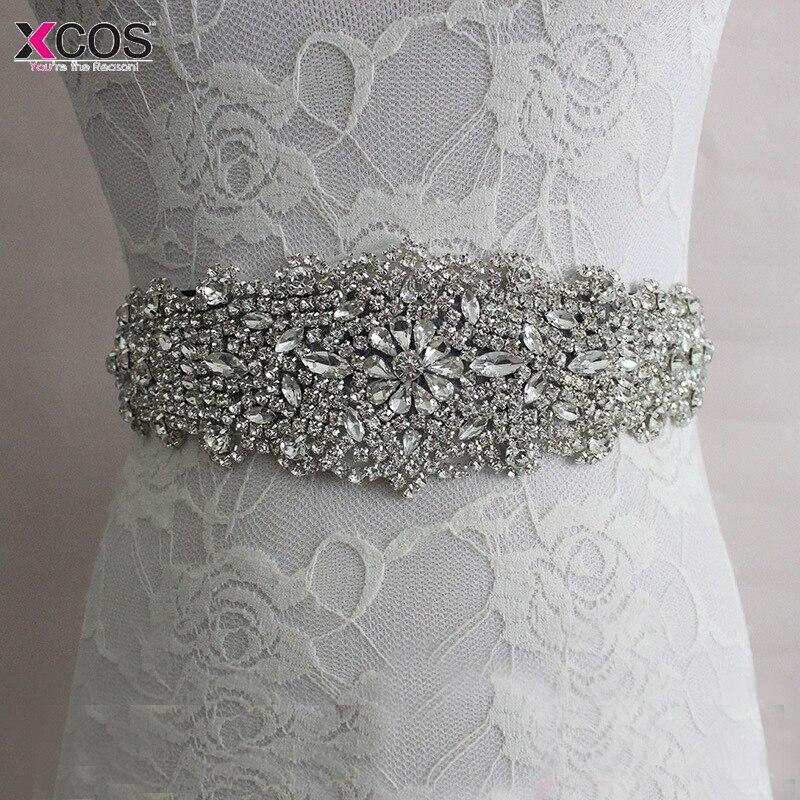 Crystal Bridesmaid Dresses Belts Satin Rhinestone Wedding Dress Belt Wedding Accessories Bridal Ribbon Sash Belt In Stock