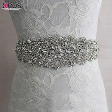 Crystal Bridesmaid Dresses Belts Satin Rhinestone Wedding