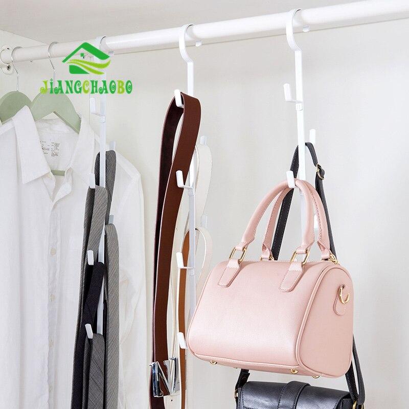 JiangChaoBo Wrought Iron Bag Storage Rack Creative Clothes Hooks Dormitory Wardrobe Multi-layer Scarf Tie Hanger Hooks
