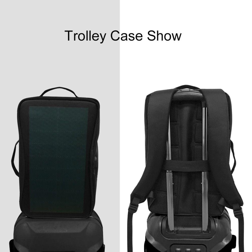 HAWEEL sac à dos solaire extérieur sacs panneau solaire Flexible 14 W sac à dos pour ordinateur portable + poignée + USB ordinateur portable tablette sacs - 5