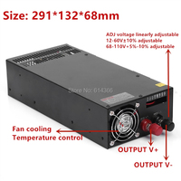 Switching power supply power suply 12V 13.5V 15V 24V 27V 36V 48V 60V 68V 110V 1200w ac to dc power supply Input 110v 220v