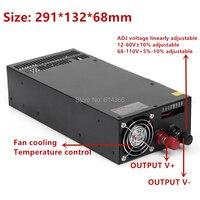 Switching power supply power suply 12V 13.5V 15V 24V 27V 36V 48V 60V 68V 110V 1200w ac to dc power supply Input 110v 220v