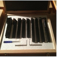 12mm*12mm / 9 Pieces Indexable, Hard Alloy Turning Tool, Lathe Tool Kits Cutter, Cutting Tools With Wooden Case