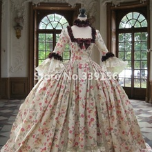 Маскарадное платье в стиле рококо; карнавальное платье в стиле колонии, грузинской Марии, Антуанетты, 18 век