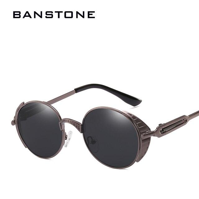 05f2c001951 BANSTONE Polarized Steampunk Sunglasses Women Men Retro Gothic Spring Legs Sunglasses  Metal Frame Mirror Coating Eyewear Shades