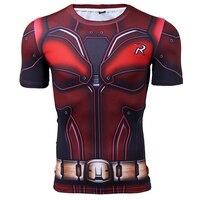 Robin 3D Printed T Shirts Men Compression Shirt 2017 New Batman Cosplay Short Sleeve Crossfit Tops