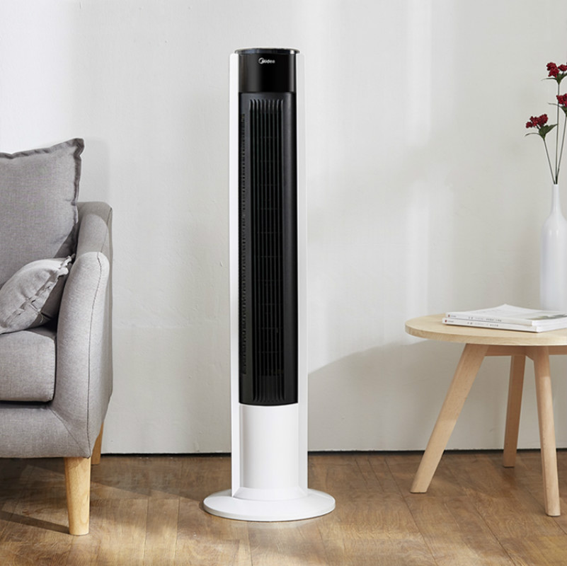 Midea Electric Fan No Leaf Floor Tower Fan Home Quiet Desktop Vertical Student Dormitory Electric Fan Portable Air Conditioner