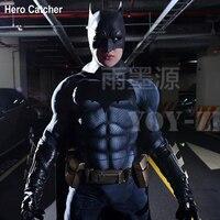 Герой Catcher одежда высшего качества 3D принт костюм Бэтмена с подкладка для мышц Бэтмен косплэй С Тиснением Логотип