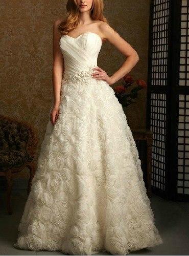 Wedding Dresses With Big Roses