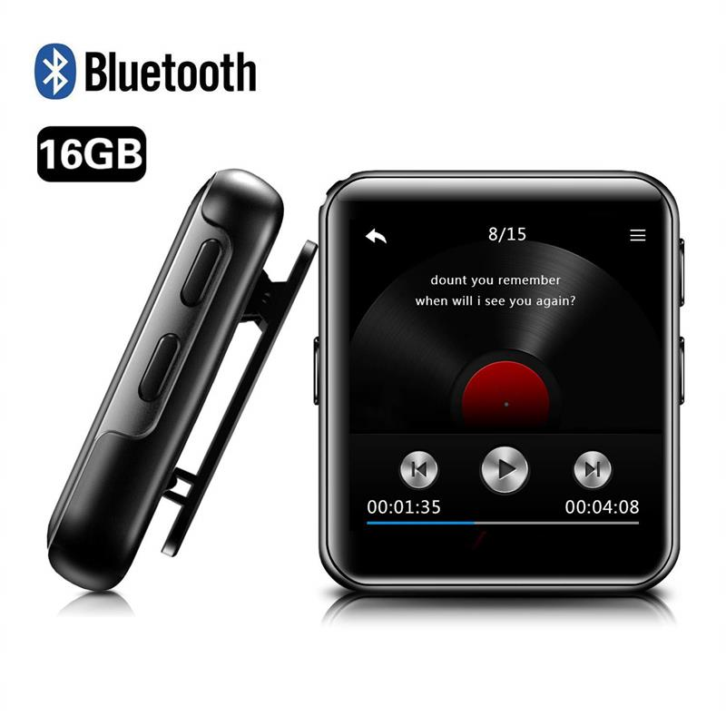 Clip Mp3-Player Touch-Screen Hifi Bluetooth Mini Running Portable Metal With For FM
