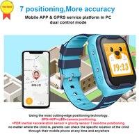2019 nova Crianças Relógio Inteligente 4G Wifi GPS Tracker Watch Phone SOS Alarm Clock Camera 7 posição e- cerca inteligente watch video chat