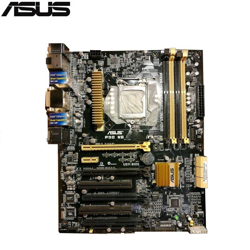 original Used Server motherboard For ASUS P9D WS Socket 1150 Core i7/Core i5/Core i3/E3-1200 Maximum 4*DDR3 32GB 6xSATAIII ATX