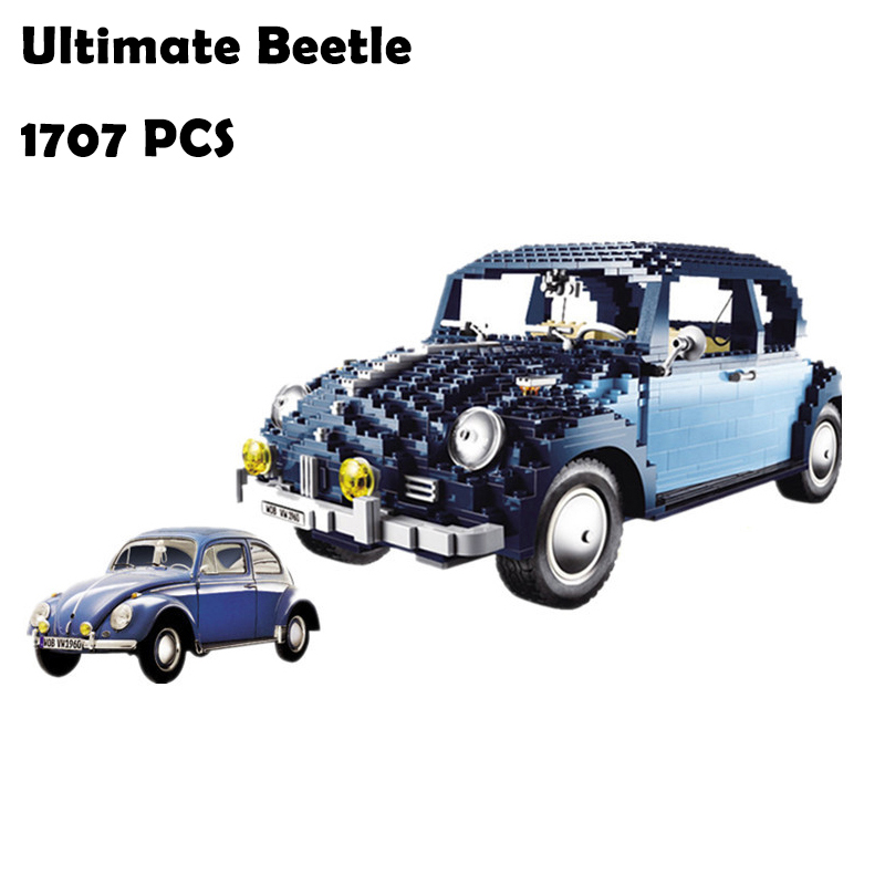 21014 1707Pcs Model Building Blocks toys Classic Series Ultimate Beetlecar-styling Compatible With Lego 10187 автов махачкале ваз 21014 год 2011
