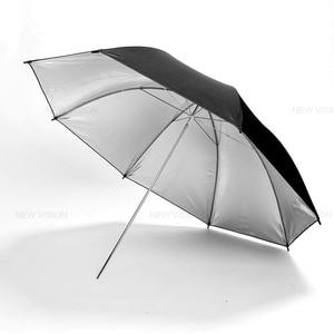 "Image 2 - 2 adet Godox 43 ""108 cm reflektör şemsiye fotoğraf stüdyosu flaş ışığı taneli siyah gümüş şemsiye"