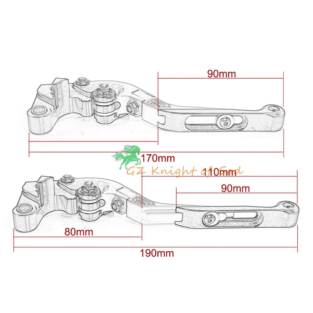 Extendable Brake Clutch Levers+ Hand Grips for KTM DUKE RC 125/200/390 2014-2015(F16/KL) 2013-2015(F16/KL) KTM 200 125 Orange