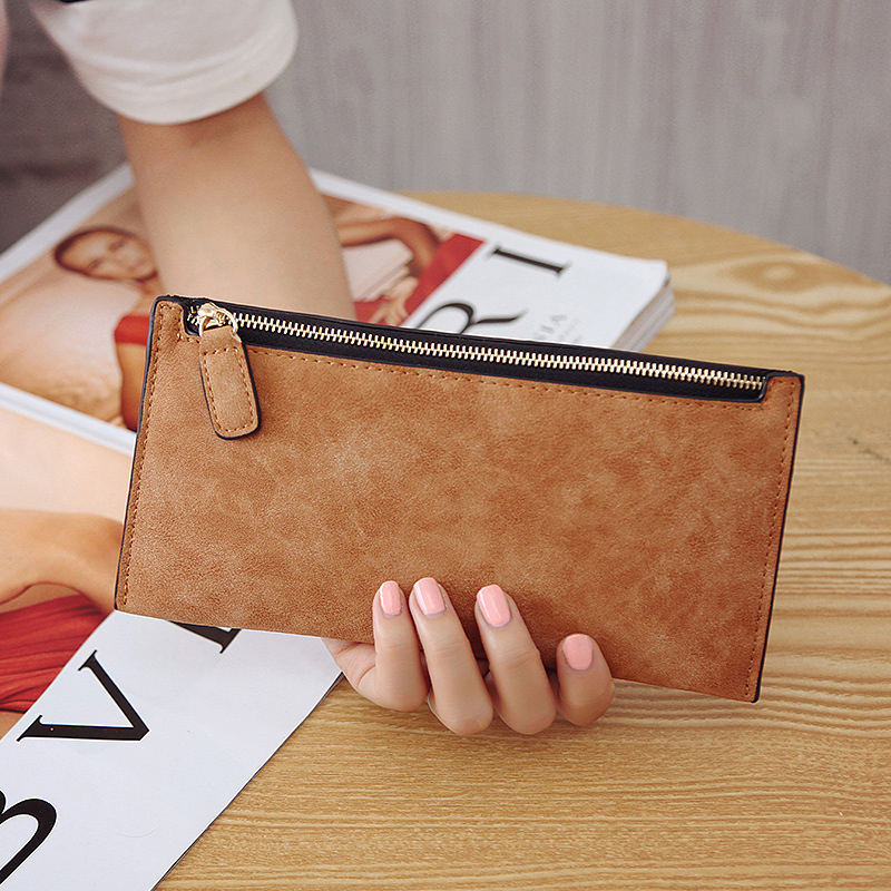 Simple Ladies Purses and Wallets Matte Leather Long Wallet Women Purse Card Package Womens Wallets and Purses Female WalletSimple Ladies Purses and Wallets Matte Leather Long Wallet Women Purse Card Package Womens Wallets and Purses Female Wallet
