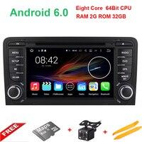 Octa Core Android 6.0.1 Auto Stereo Audio Radio Voor Audi A3 2003-2011 Touchscreen Auto Dvd-speler GPS Navigatie autoradio DAB +