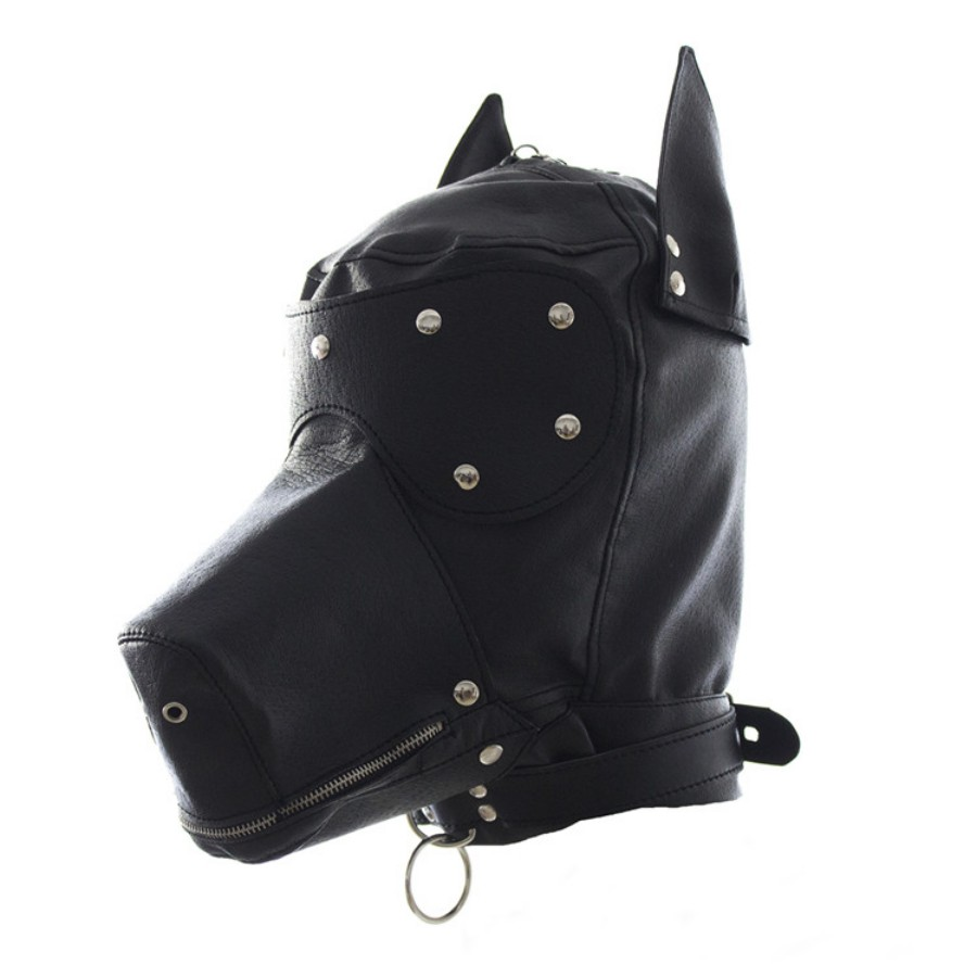 Sexy Bondage Hood Fetish Zipper Mouth Dog Mask Sex Toys For Woman Couples Restraints Adult Games,PU Leather Bdsm Hood Sex Mask new arrival latex fetish hood sexy rubber girls ponytail hood back zip including hair hood only