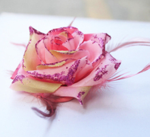2017 Peach Pink Big Rose Flower Headbands Women Hair Accessories Hairpins Female Girls Headwear Barrettes Woman